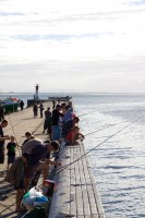 Fishing from the pier in Kalk Bay [1203046212]