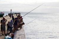 Fishing from the pier in Kalk Bay [1203046227]