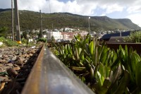 Train rails in Kalk Bay [1203046317]