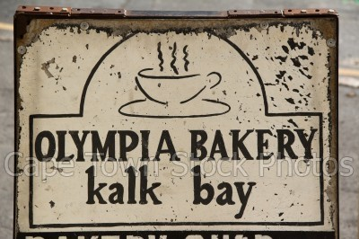 kalk bay,bakery,signs