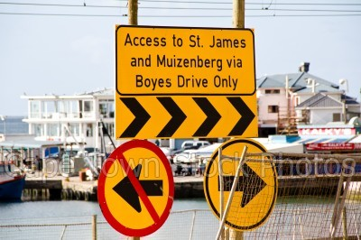 arrow,st james,muizenberg,boyes drive,traffic signs
