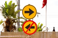 Arrow traffic signs [1203046394]