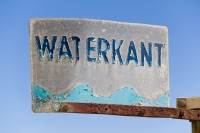 Old waterfront bus sign [1204016925]