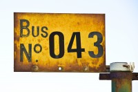 Old bus number sign [1204016931]