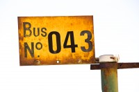 Old bus number sign [1204016932]