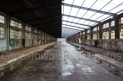 dilapidated,railway tracks,buildings