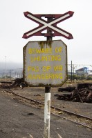 Beware of shunting railway warning sign [1204017090]