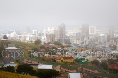 cloud,mist,cape town,city,signal hill,buildings
