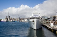 Luxury motor yacht at the V&A Waterfront [1204017147]