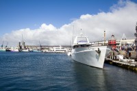 Luxury motor yacht at the V&A Waterfront [1204017148]