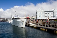 Luxury motor yacht at the V&A Waterfront [1204017149]
