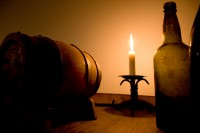Wine barrel with a candle [1204117362]