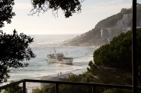 Ship stranded on Clifton beach [1205128211]