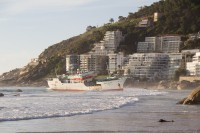 Ship stranded on Clifton beach [1205128364]