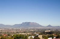 Table Mountain with blue sky [1206038486]