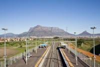 Table Mountain and railway lines [1206038487]