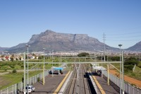 Table Mountain and railway lines [1206038488]