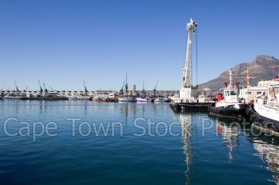v&a waterfront,harbour,boat,cranes