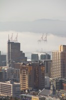 Mist rolling into Cape Town city [1206168728]