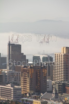 mist,city,buildings