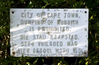 No rubbish-dumping sign [1206168769]