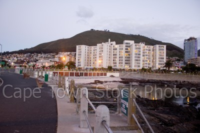 sea point,three anchor bay,night,promenade,railing