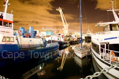 v&a waterfront,boat,night
