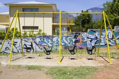 graffiti,bo kaap,swings,playpark
