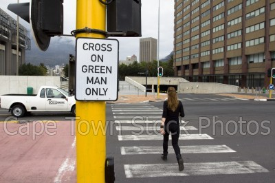 woman,pedestrian crossing