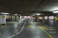 Underground concrete parking garage [1302104295]