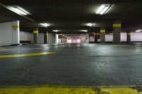 Underground concrete parking garage [1302104296]