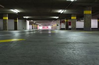 Underground concrete parking garage [1302104297]