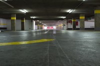 Underground concrete parking garage [1302104298]