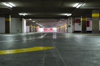 Underground concrete parking garage [1302104299]