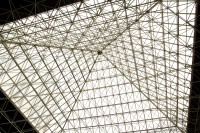 Lattice glass roof pyramid [1302104308]