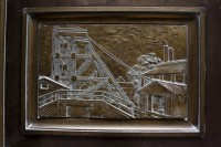 Industrial plaque of mining operations [1302104323]