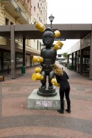 Statue with Bart Simpson in St George's Mall [1302104353]