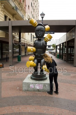 woman,statues,st george's mall