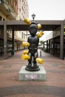 Statue with Bart Simpson in St George's Mall [1302104355]