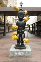 Statue with Bart Simpson in St George's Mall [1302104356]