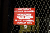Unauthorised entrance sign [1303094463]