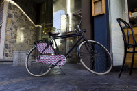 Old bicycle outside Loading Bay restaurant [1303094466]