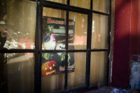 Halloween sign in a window [1303094484]