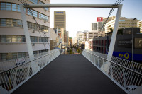 Fan-walk pedestrian bridge over Buitengracht Street [1303094517]