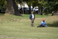 Two black men in Wynberg Park [1303233821]