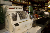 Old cash register in Royale Eatery [1303294776]