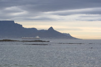 Table Mountain and Lion's Head at dusk from Big Bay [1303313857]