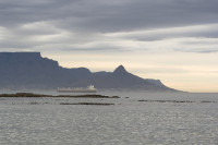 Table Mountain and Lion's Head at dusk from Big Bay [1303313858]