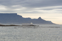 Table Mountain and Lion's Head at dusk from Big Bay [1303313862]