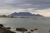 Table Mountain at dusk from Big Bay [1303314846]